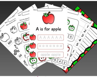 Apples Kindergarten Learning Pack