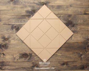 Quilt Square Block Pattern Cutout Sign