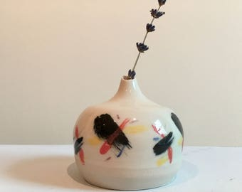Midi Underglazed Ceramic Bud Vase