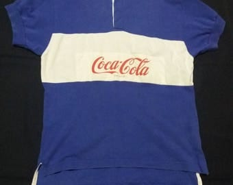 Coke cola rugby vintage 80s/90s shirt