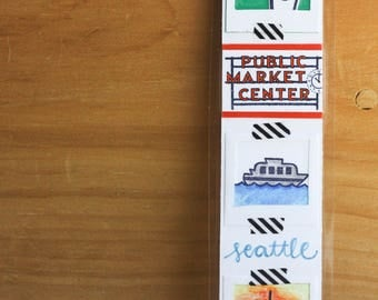 seattle-themed bookmark