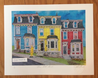 Newfoundland Jellybean print by artist Karey Wood