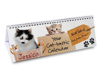 Personalised Your Cat-tastic Desk Calendar Gifts Ideas For Her Girls Womens New Home House Warming Years Kitchen Office Work