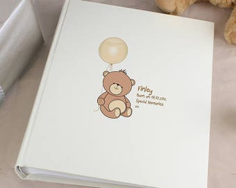 Personalised Teddy Traditional Album Gifts Ideas For New Born Babies Babys Boys Girls Christening Baptism First Holy Communion