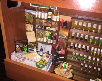 Miniature Dollhouse Wine Shop