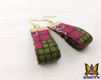 African Fabric Earrings, Ankara Print Earrings, Handmade Fabric Earrings, African Tribal Earrings, Africa Prints Earrings, African prints