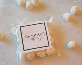 Champagne Campaign, Champagne Gummies, Champagne Candy, Wedding Favor, Wedding Favors, Bachlorette Favors, White Candy, Candy Favors
