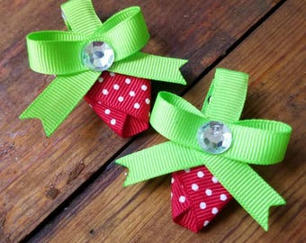 Strawberry barettes