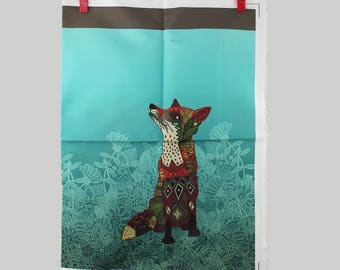 DIY Gift Bag, Drawstring Gift Bag, Fox DIY Gift Bag, Sewing Bag Pattern, DIY Gift Bag, Christmas Craft Panel, Craft Fabric, Gift Bag Pattern