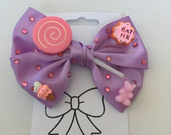Pink Lollypop Sweetie Sparkly Novelty Hair Bow