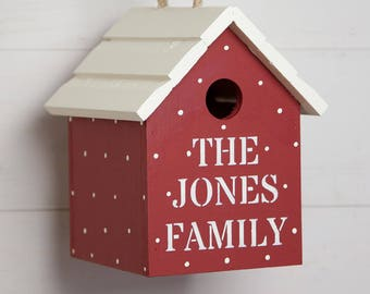 Personalised Spotty Birdhouse