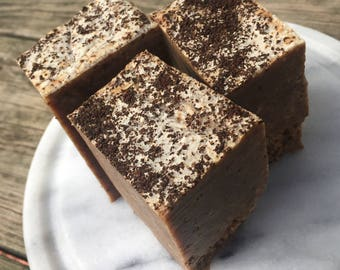 Coffee Walnut bar soap | chef soap coffee lover exfoliating fragrance free dye free all natural handmade cold process soap