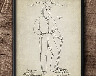 Jeans Patent · 1873 · Instant Download · Fashion · Vintage · Digital File #145