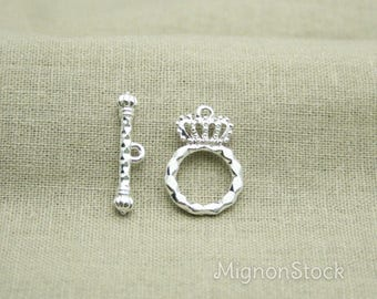 Crown & Sceptre - Metal, silver - clasp