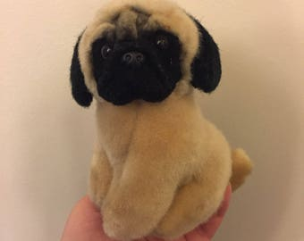 Mini pug dog plush