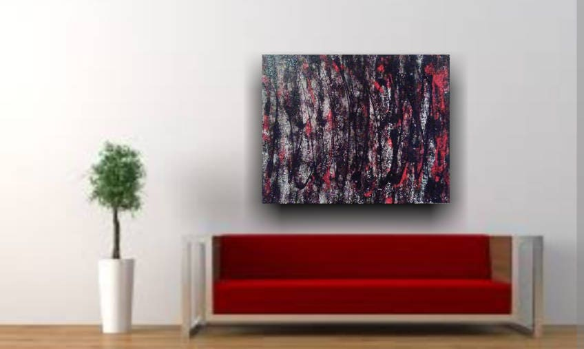 16×20 Abstract painting, acrylic painting, wall decor, home decor ...