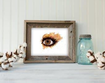 Solar Iris, art, home decor, wall art, watercolor, illustration