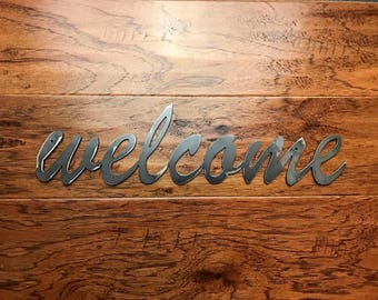 Welcome Metal Sign / Welcome Home Decor / Welcome Wall Art / Wall Decor