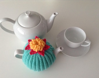 Crochet Tea Cosy, 1-2 cup teapot, retro, green, Handmade, Tea pot cover, campervan, style