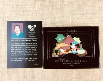 Disney Featured Artist Mickey's Fair Weather Route Train Jumbo Pin Limited Edition