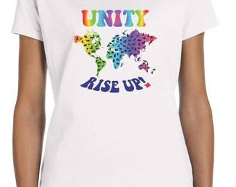 Indivisible Unity- Rise Up! Pussyhat T-shirt - Women's