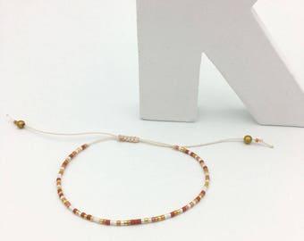 MINI Sienna, beige and Golden n2 bracelet