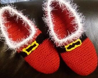Christmas gift, crochet slippers