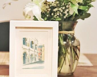 Piazza de Signori | Watercolor | Art Print | Home Decor