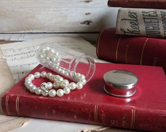 Antique Glass Jar with Silver Lid