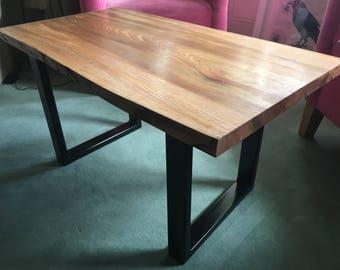 Live Edge Elm Wood Coffee Table