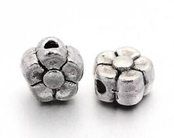 Perle Fleur silver Tibetan 1 set