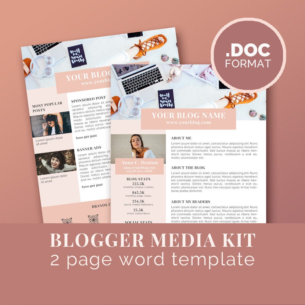 Media kit template blog marketing kit word template press for Advertising media kit template