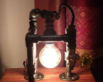 Industrial Pipe Lamp; Desk Lamp; Table Lamp; Accent Lamp; Edison Lamp
