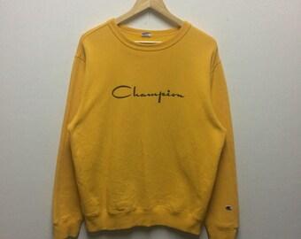 Rare!!! champion big logo sweatshirt