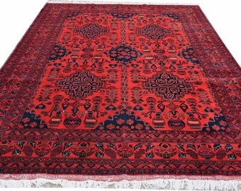 9'7x6'6 ft Free Shipping! Very good quality Afghan Khalmohamade rug made with the softWool of sheep Area Rug hand-knotted Rug Carpet Rug
