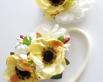 Flower Cluster & Hair Clip Set