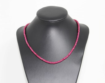 Ruby necklace, dainty, sparkling necklace, ruby, july birthstone