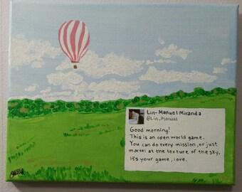 Lin-Manuel Miranda Tweet Painting