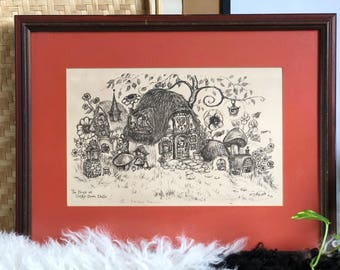 Original Drawing, The House at Dusky Down Dello