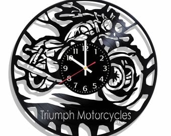 Triumph Motorcycles wall clock, Triumph Motorcycles wall poster