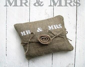"""""""Mr & Mrs"""" ring bearer pillow"""
