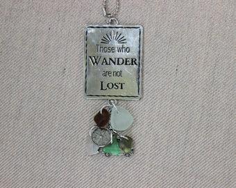Those who wander are not lost car charm