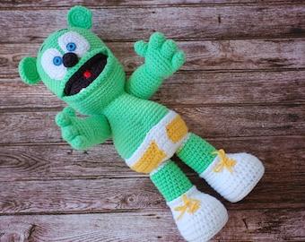 Crochet gummy bear, stuffed gummy bear,toy
