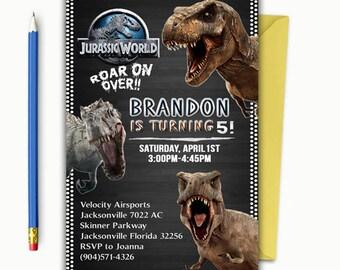 Jurassic World Invitation Jurassic Park Invitation Dinosaur