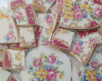 BRoKeN CHiNa MoSAiC TiLeS~~~ FiLiGreeS and FLoRaLs
