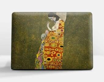 """Laptop skin (Custom size). Gustav Klimt, """"Hope"""". Laptop cover, HP, Lenovo, Dell, Sony, Asus, Samsung etc."""