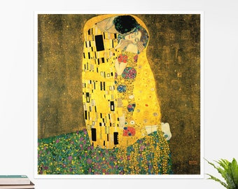 "Gustav Klimt, ""The Kiss"". Art poster, art print, rolled canvas, art canvas, wall art, wall decor"