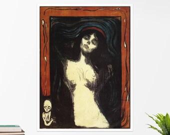 """Edvard Munch, """"Madonna"""". Art poster, art print, rolled canvas, art canvas, wall art, wall decor"""