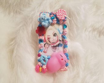 Iphone 7 Harley Quinn decoden case (with stress relieving squishy)