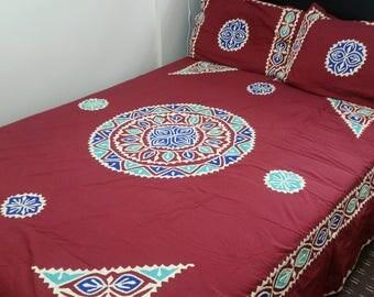 King size  Bed sheet (Eplic work)